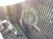 Hole in Radiator